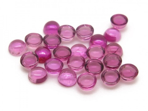 Pink Tourmaline Round Cabochon ~ Various Sizes
