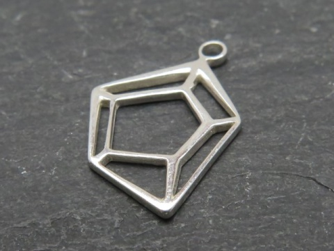 Sterling Silver Geometric Pendant 15mm