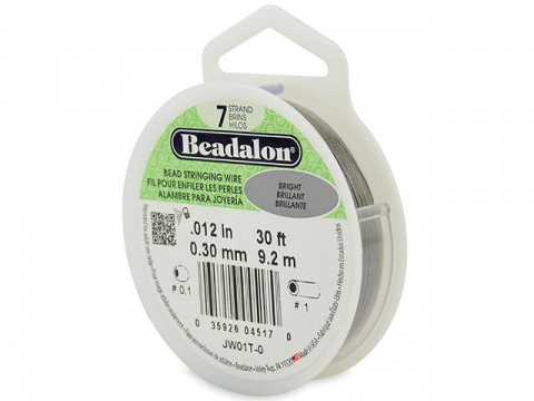Beadalon 7 Strand Stringing Wire 0.012'' (0.30mm) - Bright - 30 Feet