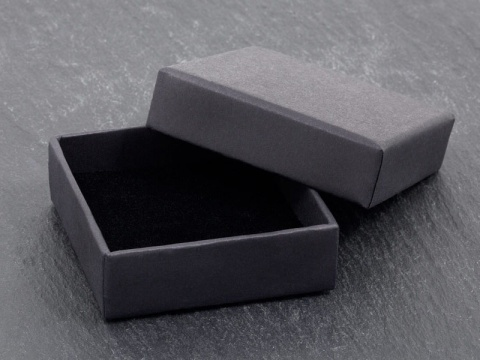 Earring/Pendant Box with Foam Insert ~ Black ~ 55mm x 55mm