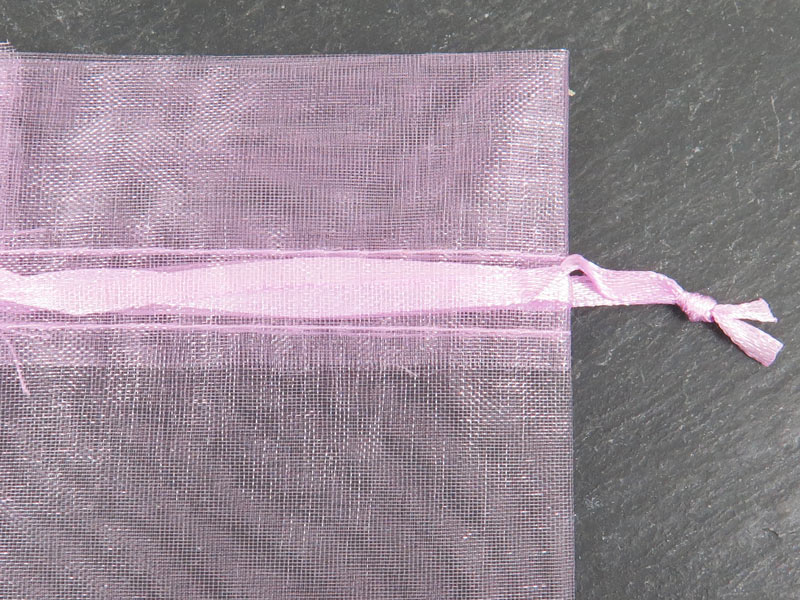 Organza Bag 8cm x 10cm ~ Rose Pink ~ Pack of 10