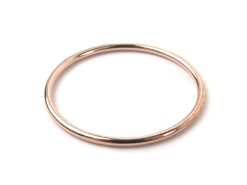 Rose Gold Filled Stacking Ring 20mm ~ Size P