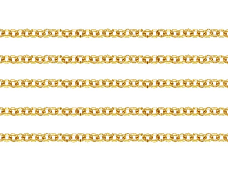 Gold Filled Rolo Chain 2.5mm ~ Offcuts