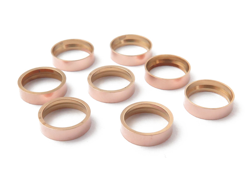 Rose Gold Filled Round Tube Bezel Setting for Cabochon 6mm
