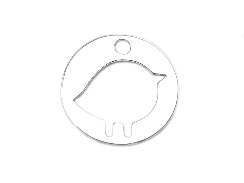Sterling Silver Chick Pendant 10mm