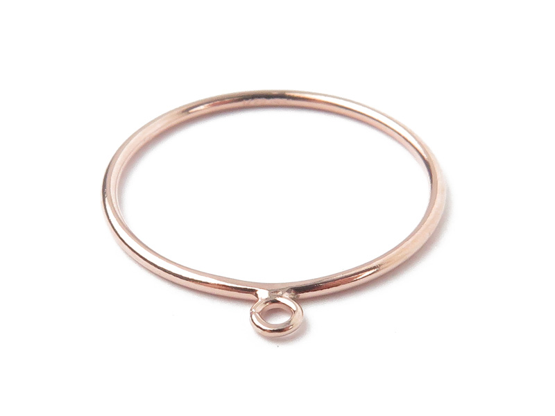Rose Gold Filled Stacking Ring w/Open Jump Ring ~ Size P