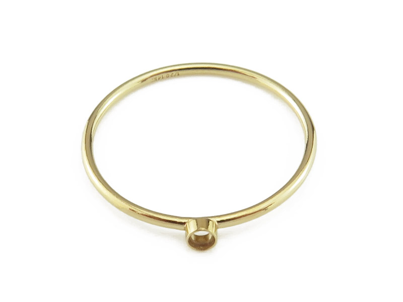 Gold Filled Bezel Ring 2mm ~ Size P