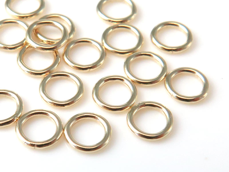 14K Gold Closed Jump Ring 4mm ~ 22g