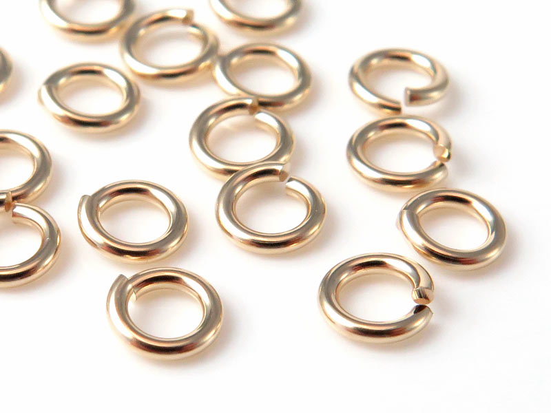 14K Gold Open Jump Ring 4mm ~ 20g