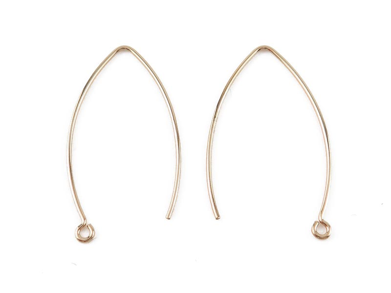 Gold Filled V Shape Ear Wire 32mm ~ PAIR