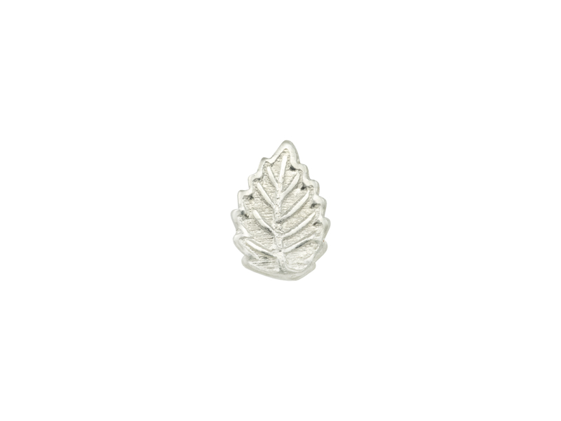 Sterling Silver Leaf Solderable Accent 7.25mm