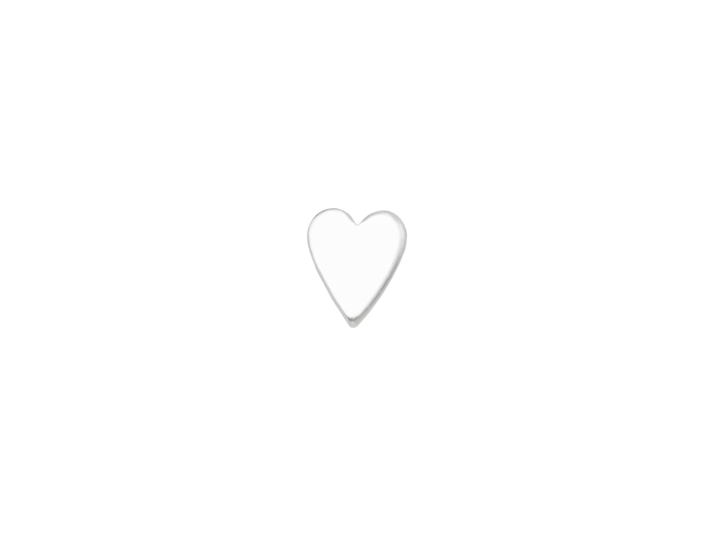 Sterling Silver Heart Solderable Accent 5.5mm