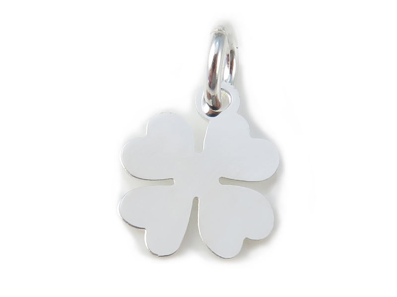 Sterling Silver Clover Pendant 10mm