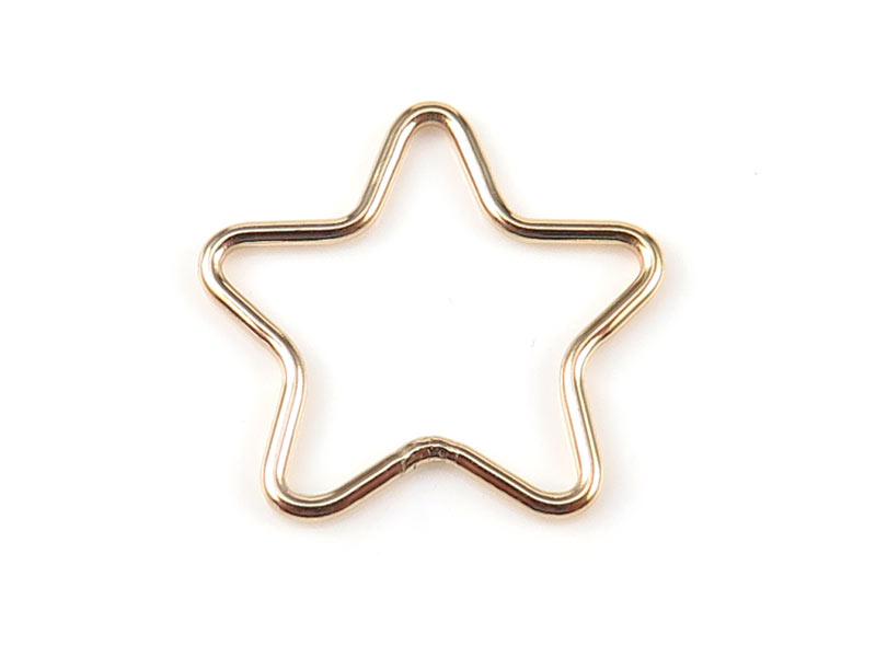 Gold Filled Star Connector 15mm