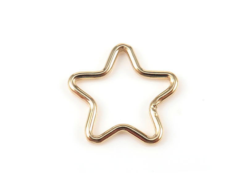 Gold Filled Star Connector 11mm