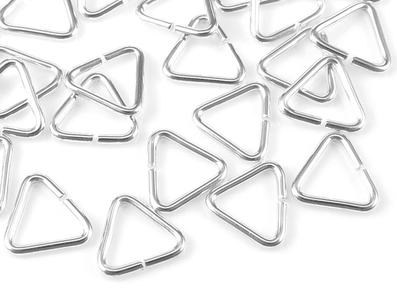 Sterling Silver Open Triangle Component 5mm ~ Pack of 10