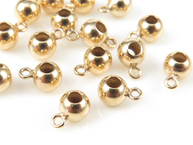 Gold Filled Bead with Ring 4mm