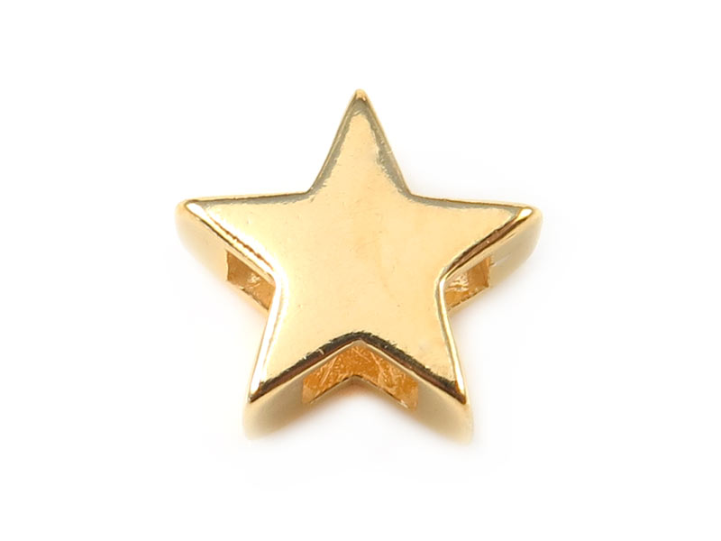 Gold Vermeil Star Bead 10mm