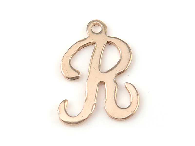 Gold Filled Alphabet Charm 12mm ~ R