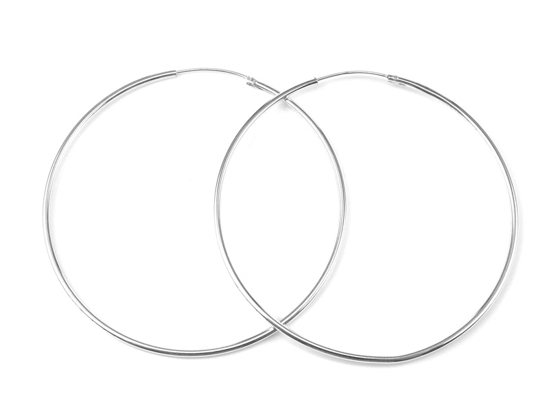 Sterling Silver Earring Hoop 50mm ~ PAIR