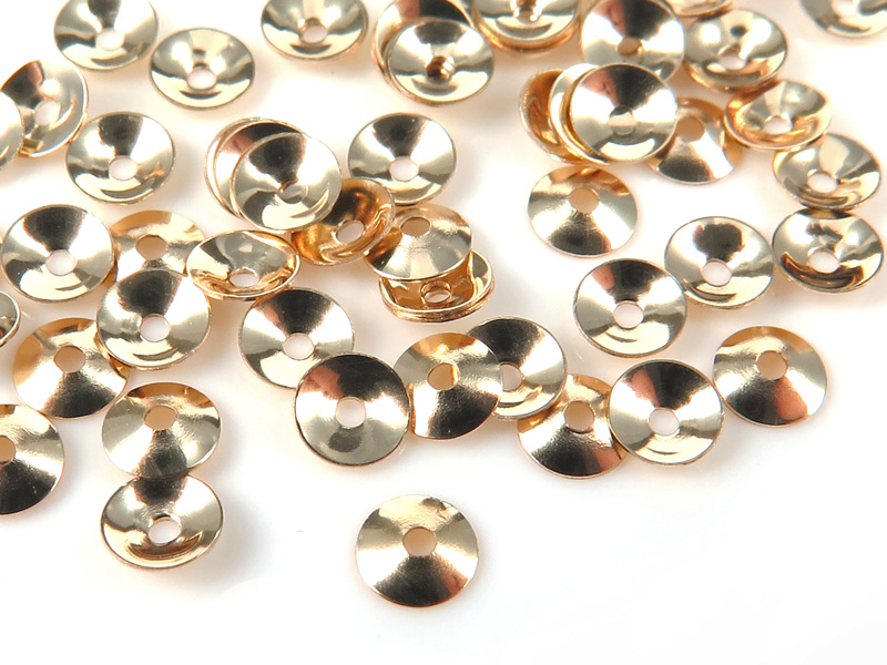 Gold Filled Plain Bead Cap 3mm