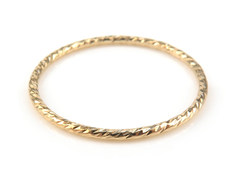 Gold Filled Sparkle Stacking Ring 20mm ~ Size P