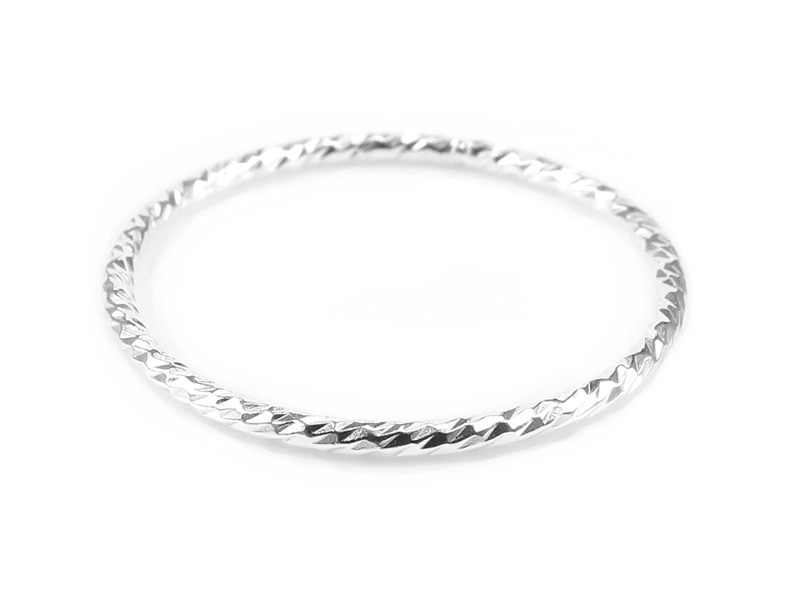 Sterling Silver Sparkle Stacking Ring ~ Size J