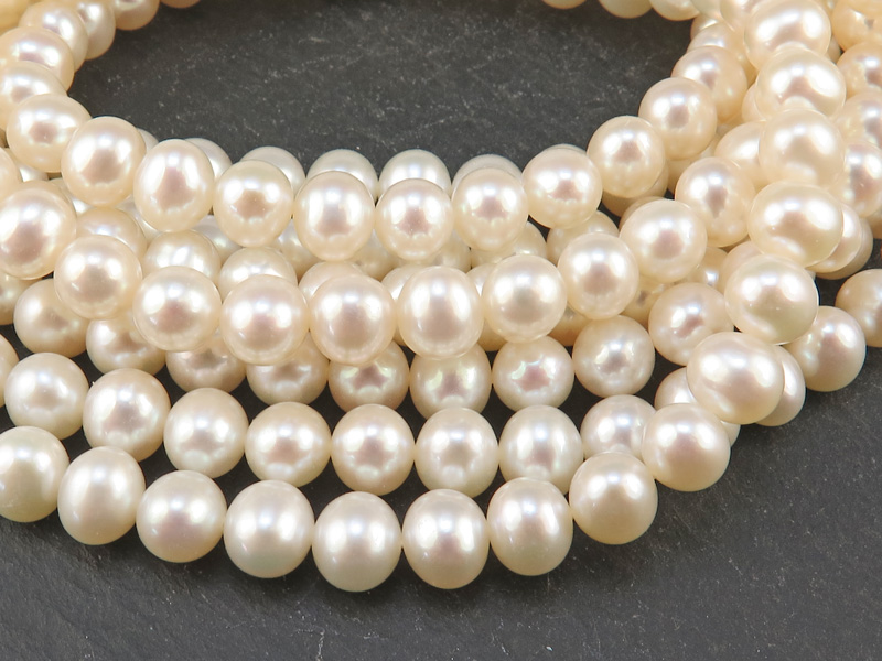 Freshwater Pearl Ivory Potato Beads 7mm ~ 16'' Strand