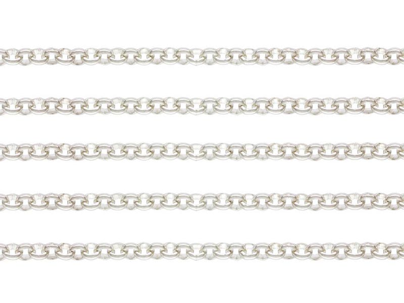 Sterling Silver Rolo Chain 2mm x 2mm  ~ Offcuts
