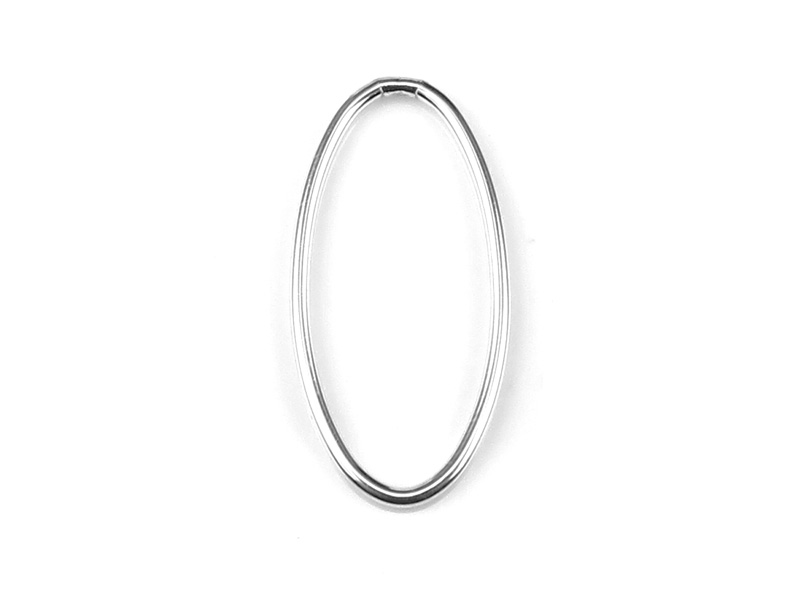 Sterling Silver Oval Connector 20mm