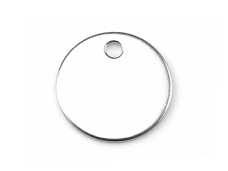 Sterling Silver Round Tag/Disc 8mm