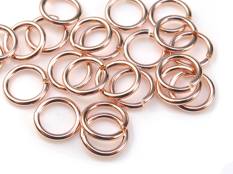 Rose Gold Filled Open Jump Ring 7mm ~ 18ga