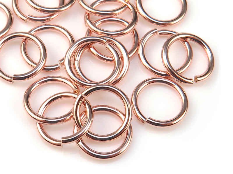 Rose Gold Filled Open Jump Ring 8mm ~ 18ga