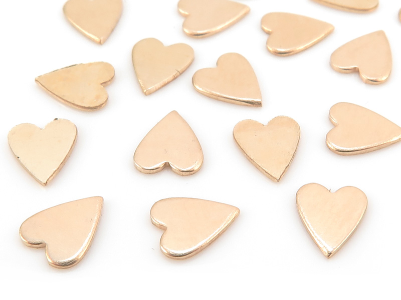 Gold Filled Heart Solderable Accent 5.5mm