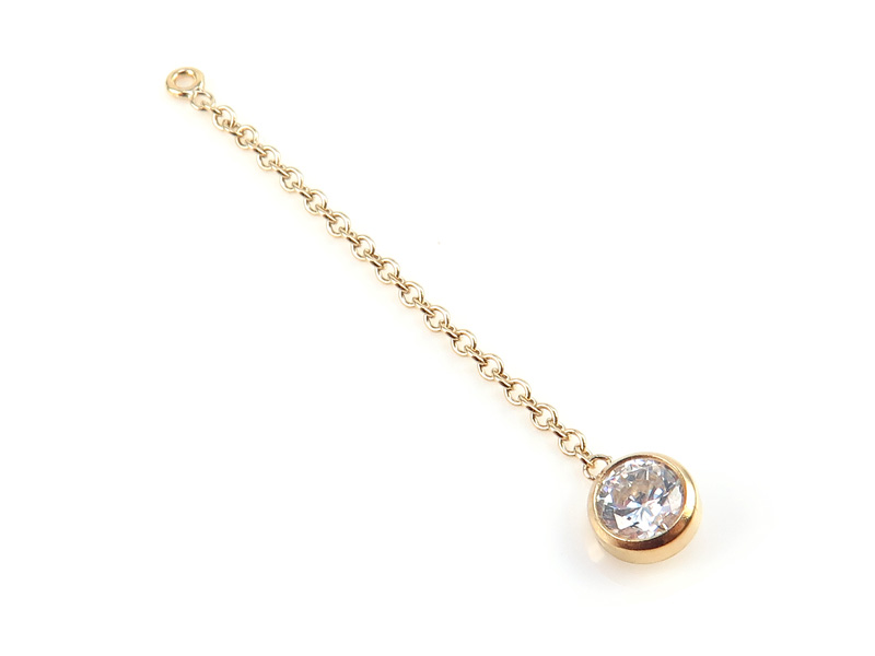 Gold Filled Chain with CZ Charm