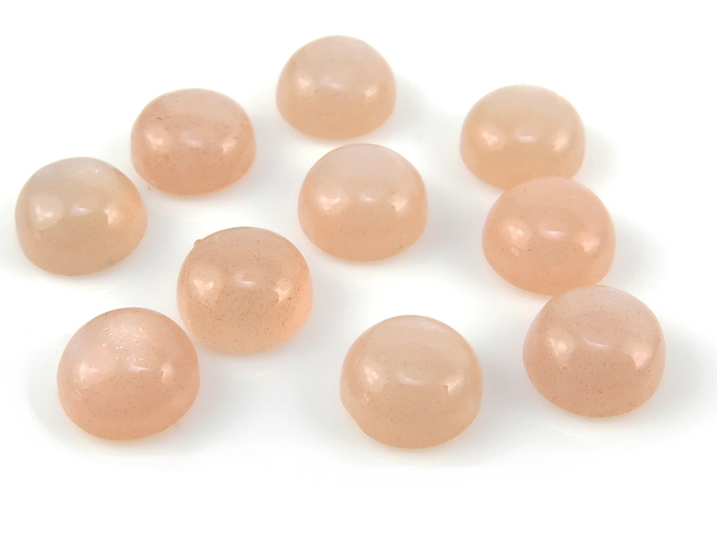 Peach Moonstone Round Cabochon ~ Various Sizes