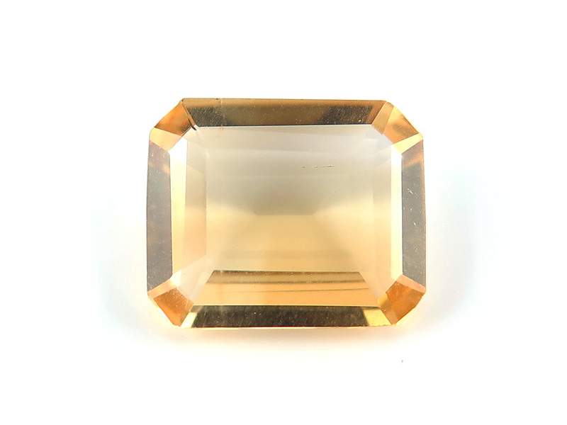 Citrine Faceted Octagon 12mm x 10mm