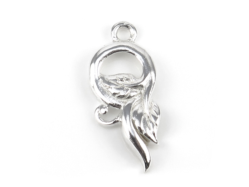 Sterling Silver Vine Charm 19mm