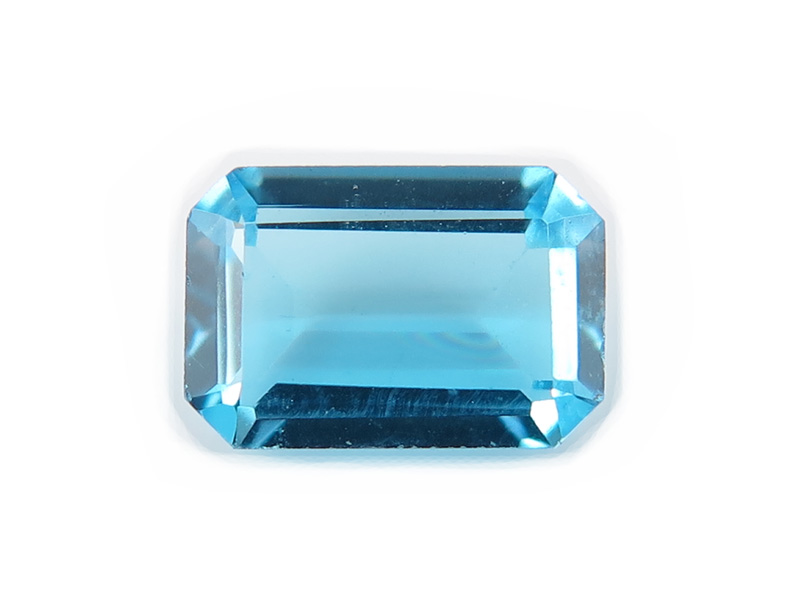 Swiss Blue Topaz Faceted Octagon 6mm x 4mm