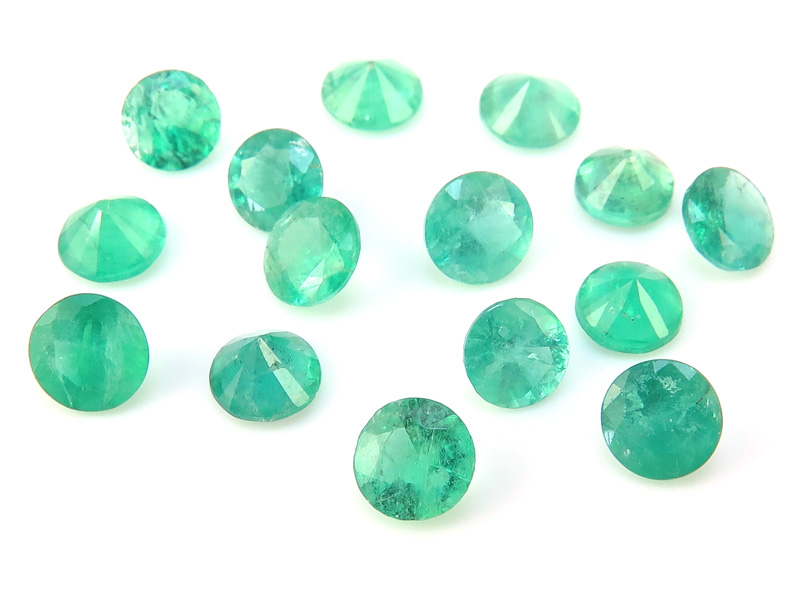 Emerald Faceted Round ~ Various Sizes