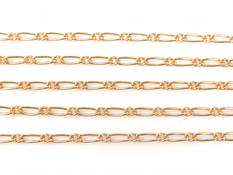 Gold Filled Figaro Chain 6mm x 2.5mm ~ by the Foot