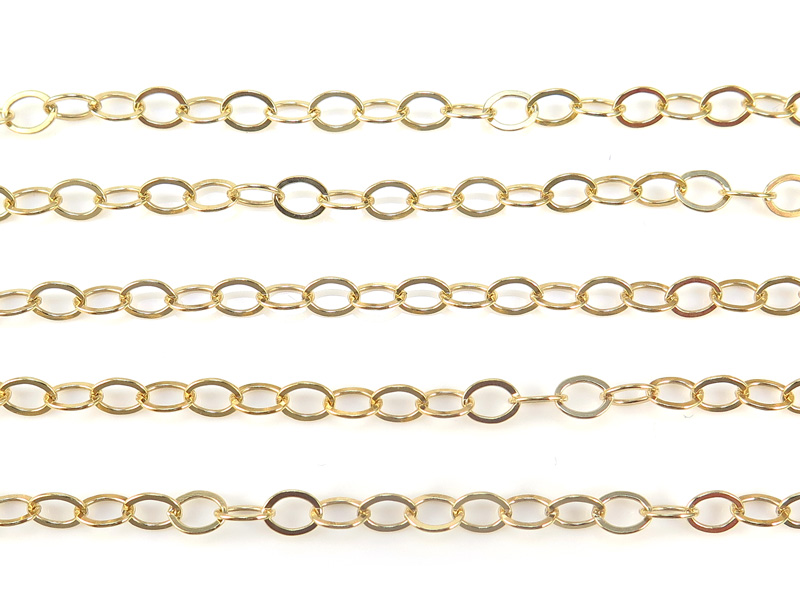 Gold Filled Flat Cable Chain 5 x 3.75mm ~ Offcuts