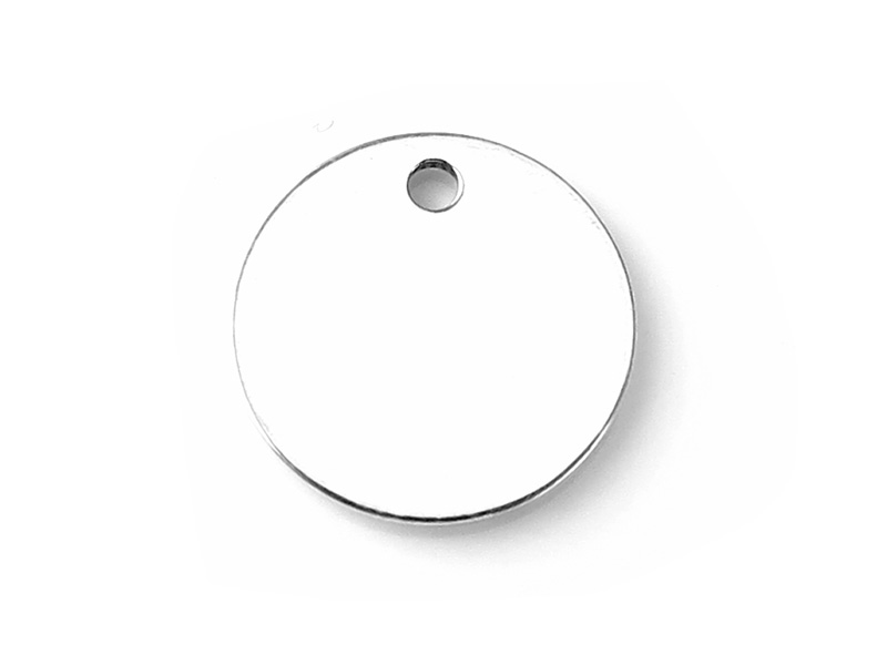 Sterling Silver Round Tag 12mm - Optional Engraving