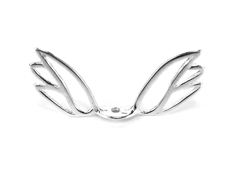 Sterling Silver Wing Bead Cap