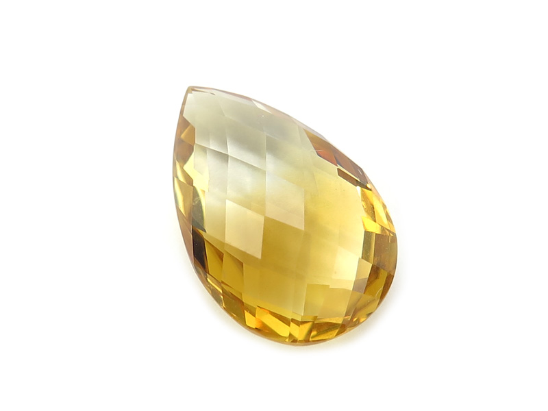 Citrine Double Sided Faceted Pear ~ Various Sizes