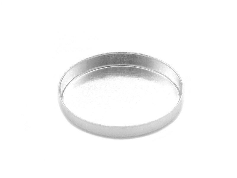 Sterling Silver Oval Bezel Cup Setting 16mm x 12mm
