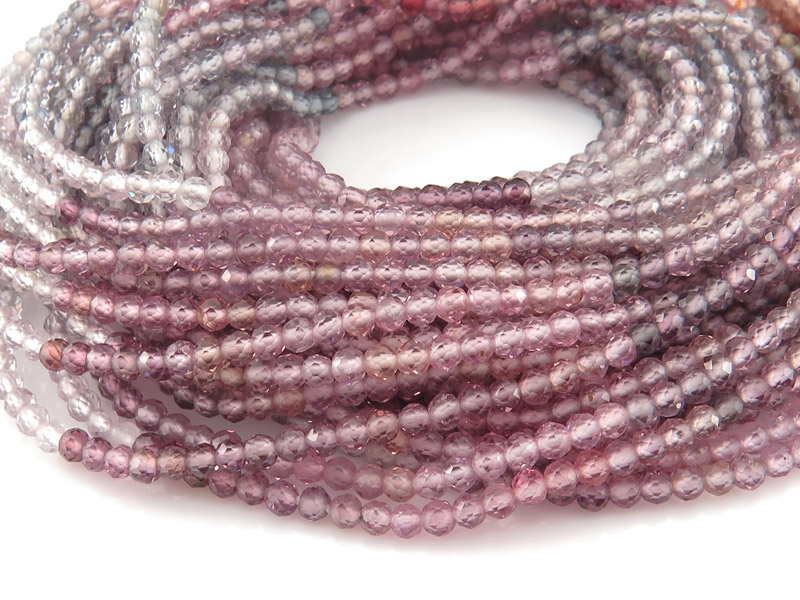 AAA Multi Spinel Micro-Faceted Rondelle Beads 2.5mm ~ 12.5'' Strand