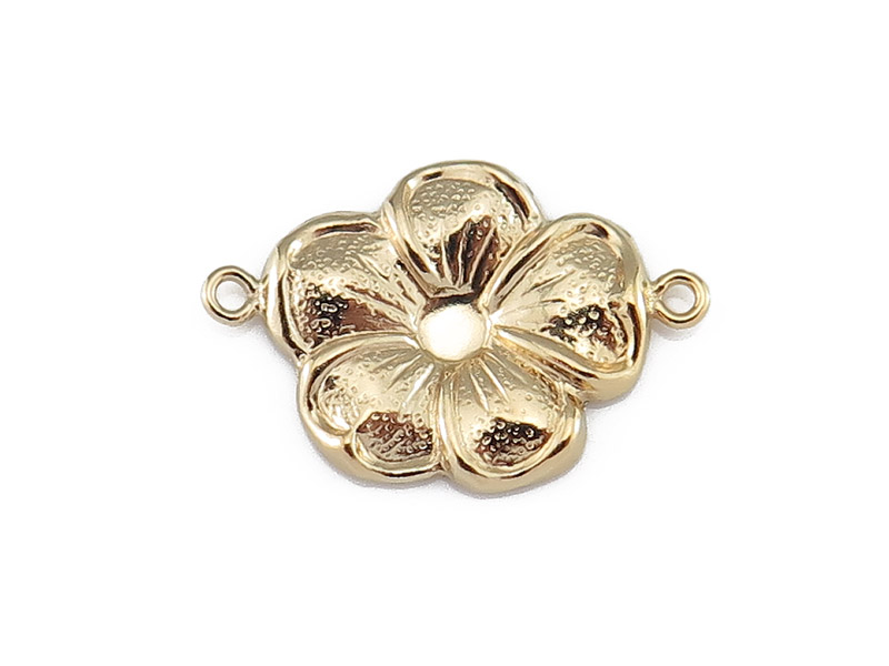 Gold Filled Flower Connector 16mm