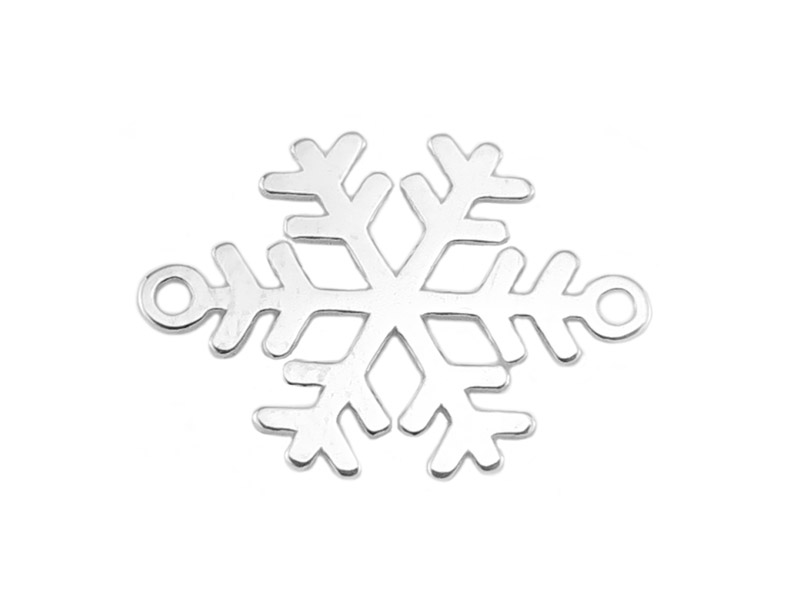 Sterling Silver Snowflake Connector 17mm