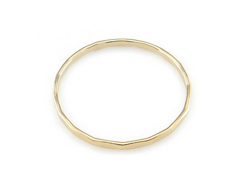 Gold Filled Hammered Stacking Ring ~ Size R